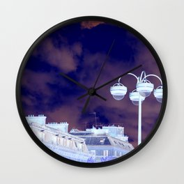 Parisian Sky In Blue Wall Clock