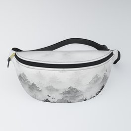 B&W Majestic Forest | Watercolor Fanny Pack