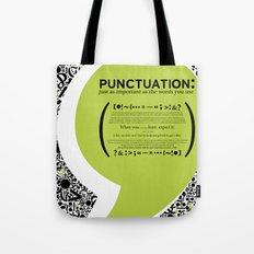 Punctuation [Appreciation]. Tote Bag