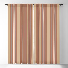 Cavern Clay SW 7701 and Accent Colors Thick and Thin Vertical Lines Bold Stripes 1 Blackout Curtain