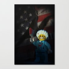 American Psycho in LEGO Canvas Print
