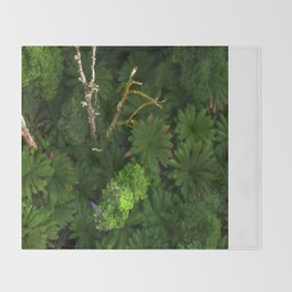 Forty metres above the forest Floor Throw Blanket
