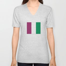 Flag of the suffragettes Unisex V-Neck