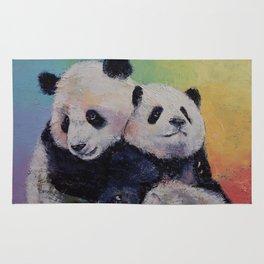 Panda Hugs Rug