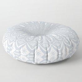 Cool Gray Mandala Simplistic Bold Minimal Minimalistic Floor Pillow