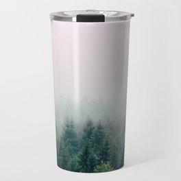 Pink foggy forest Travel Mug