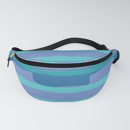 Ribbon Stripe - Purple Fanny Pack