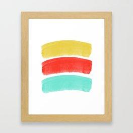 Burst's Of Lines Framed Art Print