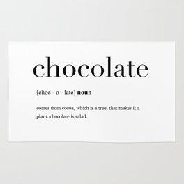 Chocolate definition Rug