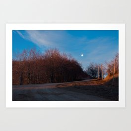 Mt. Sirino - Moon at dawn Art Print