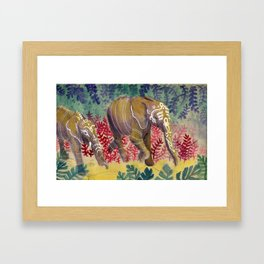 Chromatic Pachyderms Framed Art Print