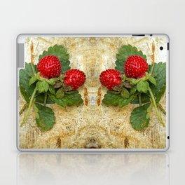 Indian strawberries on birch bark Laptop & iPad Skin