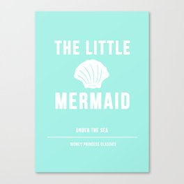 Disney Princesses: The Little Mermaid Minimalist Canvas Print
