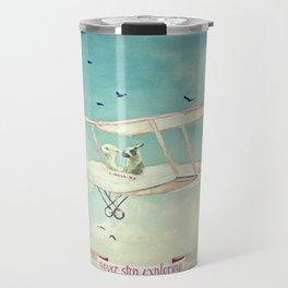 Never Stop Exploring III - THE SKY Travel Mug