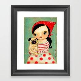 Pug by tascha Framed Art Print