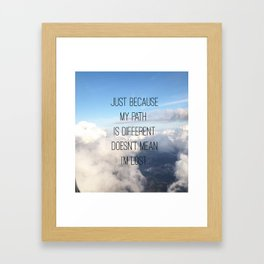 PATHS Framed Art Print
