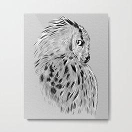 Profile owl sketch Metal Print