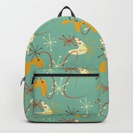 Atomic Boomerang Mid Century Modern Backpack