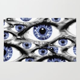Blue Eyes HD by JC LOGAN 4 Simply Blessed Rug
