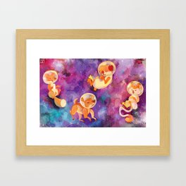 Space Animals Framed Art Print
