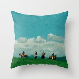 Ran - Kurosawa Illustration Throw Pillow