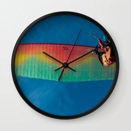 Paragliding flight. Wall Clock