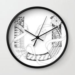 """Zenletter """"U"""" Wall Clock"""