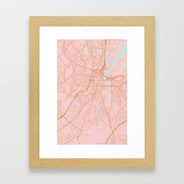 Belfast map, Northern Ireland Framed Art Print