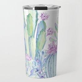 Mixed Cacti White #society6 #buyart Travel Mug
