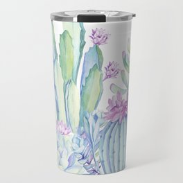 Mixed Cacti White #society6 #buyart Travel Mug