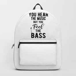Feel The Bass Guitarist Rock Band Musician Backpack