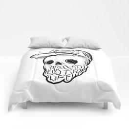 Lust For Life - Digital Skull Traveller Illustration Comforters