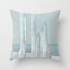 Cactus Blues Throw Pillow