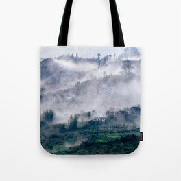 Foggy Mountain of Sa Pa in VIETNAM Tote Bag
