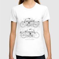 motorcycle T-shirts featuring Motorcycle Diagram by marcusmelton