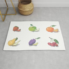 Brush illustrated fruit - hand drawn Rug