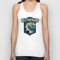 quidditch Tank Tops featuring Hogwarts Quidditch Teams - Slytherin by Deadround