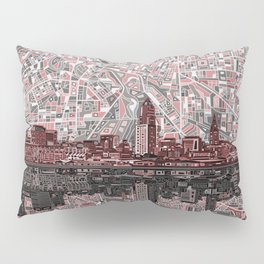 cleveland city skyline Pillow Sham