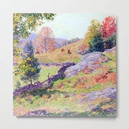 Willard Metcalf Hillside Pastures Metal Print