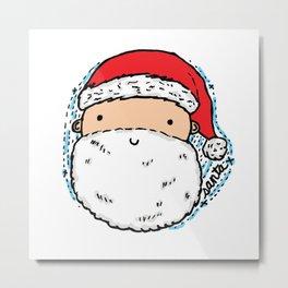 Cute Santa Metal Print