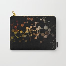 Metallic Molecule Carry-All Pouch