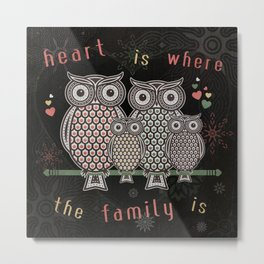 Owl_Love_SA_01b Metal Print