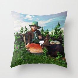 Leprechaun Gold Throw Pillow