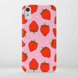 Strawberry Print iPhone Case