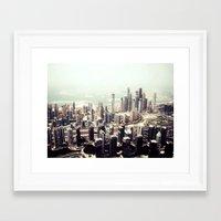 buildings Framed Art Prints featuring buildings by sinnamin