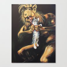 Alf Devouring His Cat Canvas Print