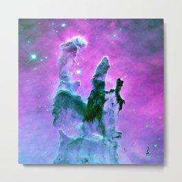 Pillars of Creation purple Pink Blue Metal Print