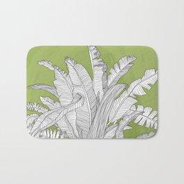 Banana Leaves Illustration - Green Bath Mat