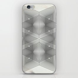 Optical Vibrations in Black and White iPhone Skin