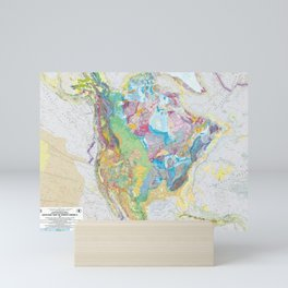 USGS Geological Map of North America Mini Art Print